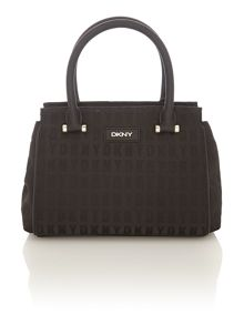 Saffiano black small satchel bag