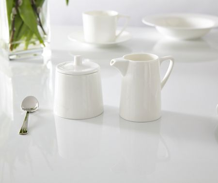 Linea Nova fine bone china sugar & creamer