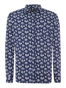 Dixon Long Sleeve Floral Printed Shirt