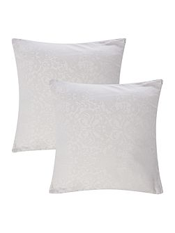 Luxury Hotel Collection Blue & white jacquard cushion