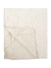 Luxury Hotel Collection Taupe & cream jacquard bedspread