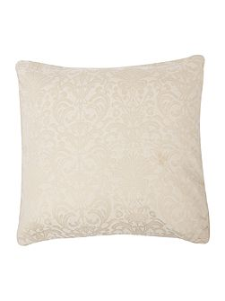 Luxury Hotel Collection Taupe & cream jacquard cushion