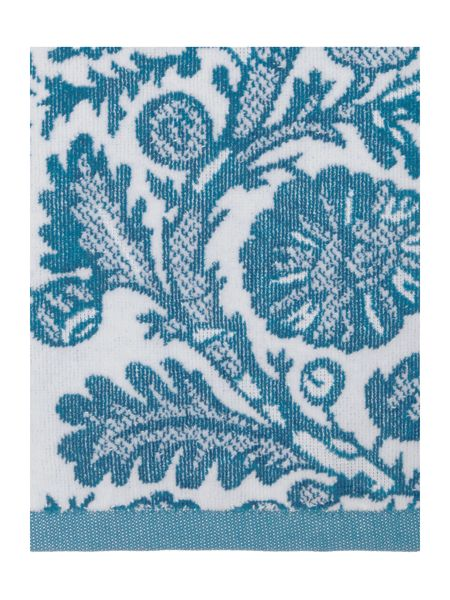 Living by Christiane Lemieux Bird Jacquard Hand Towel in Teal