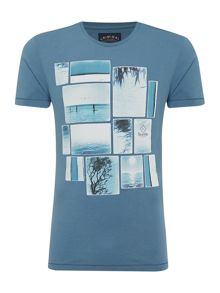 Escondido Collage Print Short Sleeve T-Shirt