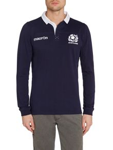 Scottish Rugby Logo Rugby Neck Regular Fit Rugby Top