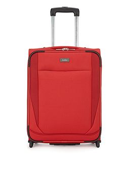 Barina red 2 wheel soft cabin suitcase