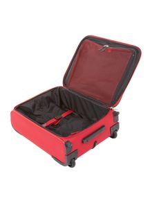 Antler Barina red 2 wheel soft cabin suitcase