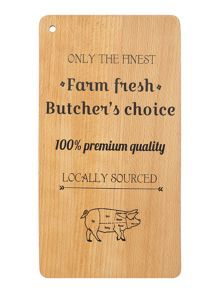 Linea Smoked meats printed beech board