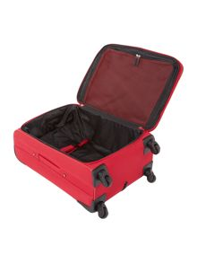 Barina red 4 wheel soft large suitcase