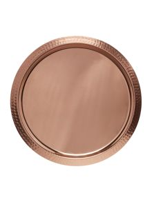 Casa Couture Beaten metal bar tray copper plated