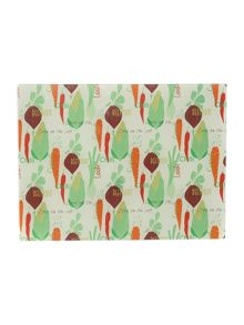 Vegetable patterned worktop saver