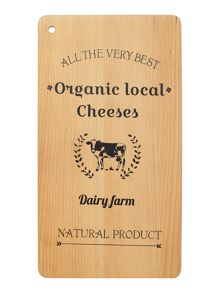 Finest cheese printed beech board