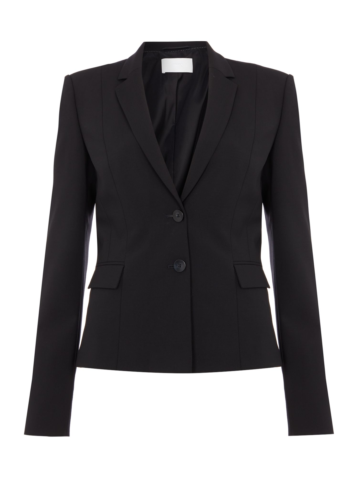 Hugo Boss Jaru Wool Strtch 2 Btn 56cm Suit Jacket Black