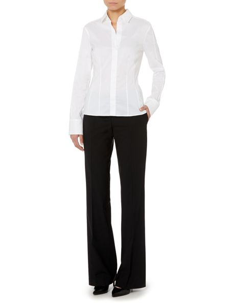 Hugo Boss Tulea Wool Bootcut Suit Trousers