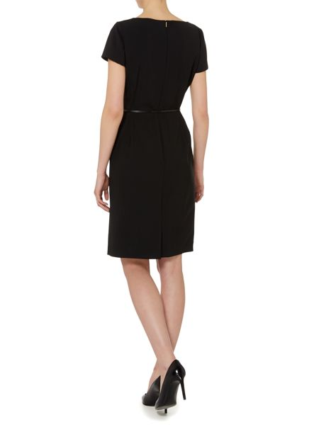 Hugo Boss Dilya Wool Stretch Belted Dress