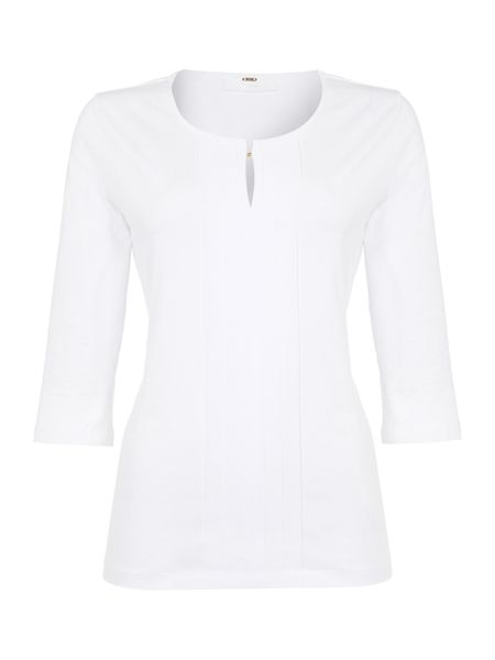 Hugo Boss Emmilla Front Pleated ¾ Slv Jersey Top