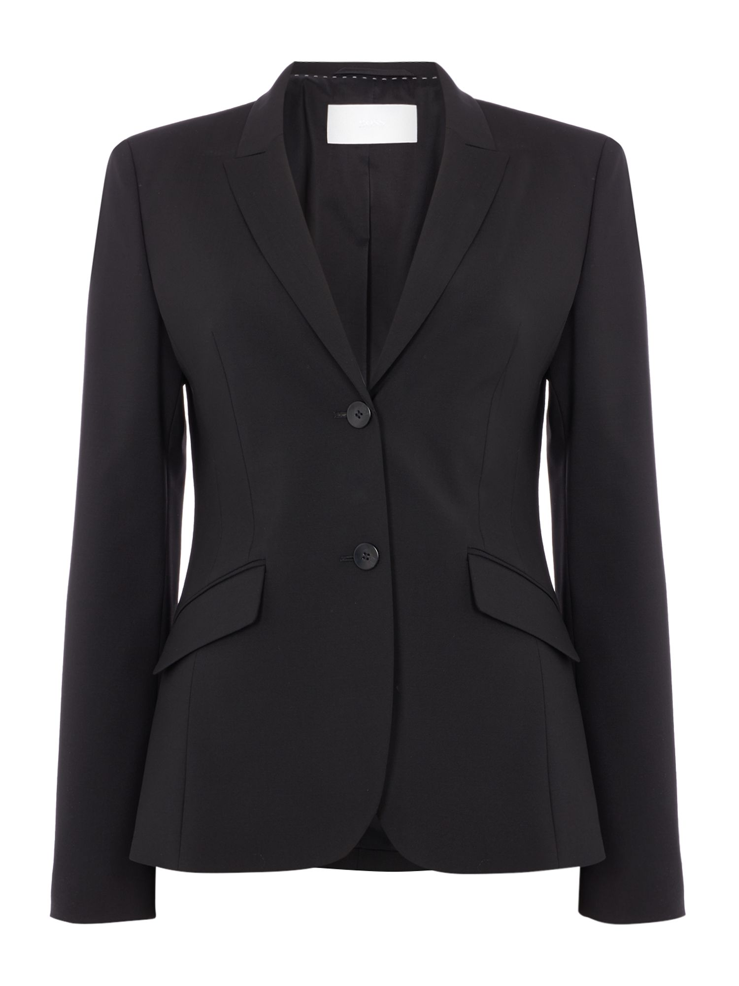 Hugo Boss Julea Wool Strtch 2 Btn 62cm Suit Jacket Black