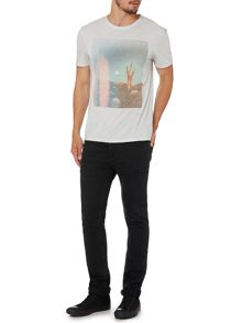 Label Lab Desert Graphic Scoop Regular Fit T-Shirt