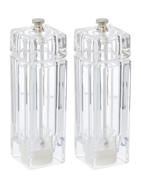 Linea Acrylic salt and pepper set