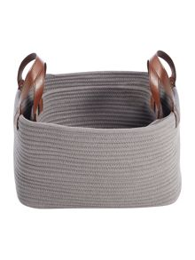 Gray & Willow Rope basket set of 2