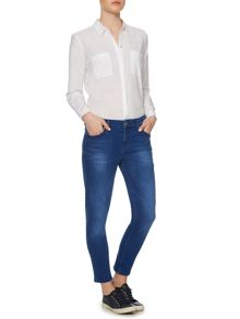 French Blue Chelsea Crop Jeans