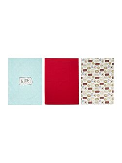 Biscuits set of 3 tea towels