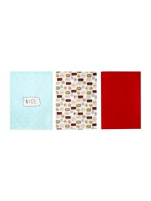 Linea Biscuits set of 3 tea towels