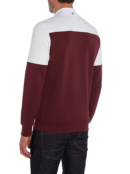 le coq sportif graphic crew neck pull over jumpers red. Black Bedroom Furniture Sets. Home Design Ideas