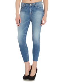 Hudson Jeans Krista light wash super skinny crop jean