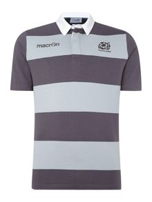 Scottish Rugby Long Sleeve Stripe Regular Fit Travel Rugby Top