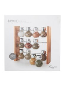 Linea Bamboo filled 12pc spice rack