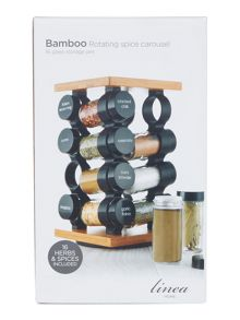 filled bamboo 16 piece spice rack