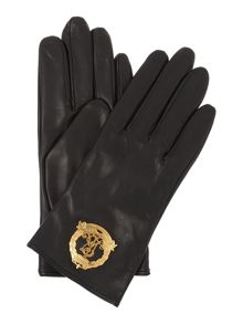 Metal Lauren Crest Glove