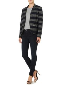 Linea Weekend Embroidered stripe jacket