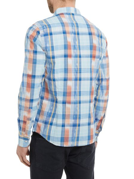 Lee Check Classic Fit Long Sleeve Classic Collar Shir