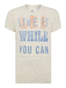 Slim Fit Printed Logo T-Shirt