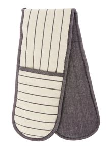 Gray & Willow Pinstripe double oven glove