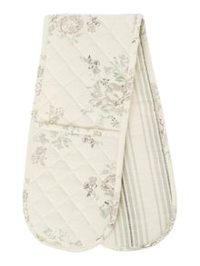 Shabby Chic Floral stripe double oven glove