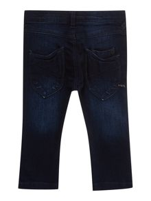 Boys slim fit dark wash denim