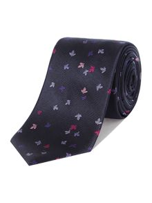 Howick Tailored Fairborn Fallen Leaves Jacquard Silk Tie