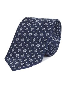 Howick Tailored Druxel Star Flower Jacquard Silk Tie
