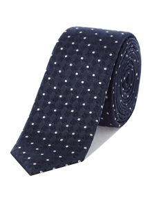 Kenneth Cole Aaron Diamond Spot Textured Silk Tie