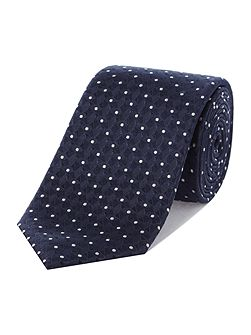 Ron Diamond Spot Textured Silk Tie