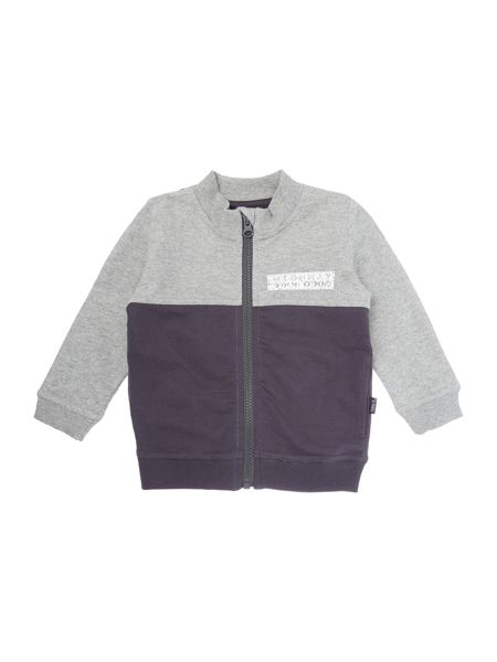 name it Boys funnel neck contast panel full zip