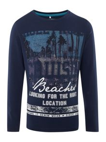 name it Boys crusing beach graphic tee