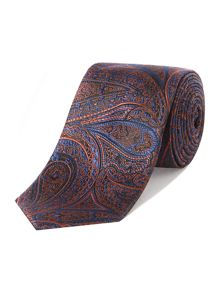New & Lingwood Canary Paisley Jacquard Silk Tie