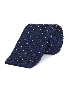 New & Lingwood Tamworth Knitted Spot Tie