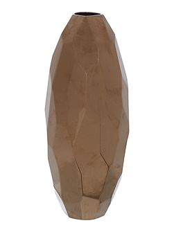 Copper facet vase, large