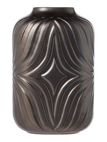 Copper embossed vase, small