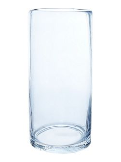 Gray & Willow Blue transparent glass vase